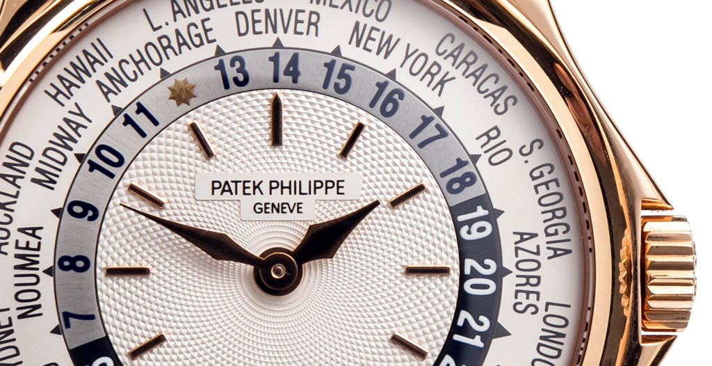 Patek Philippe Worldtime front close-up